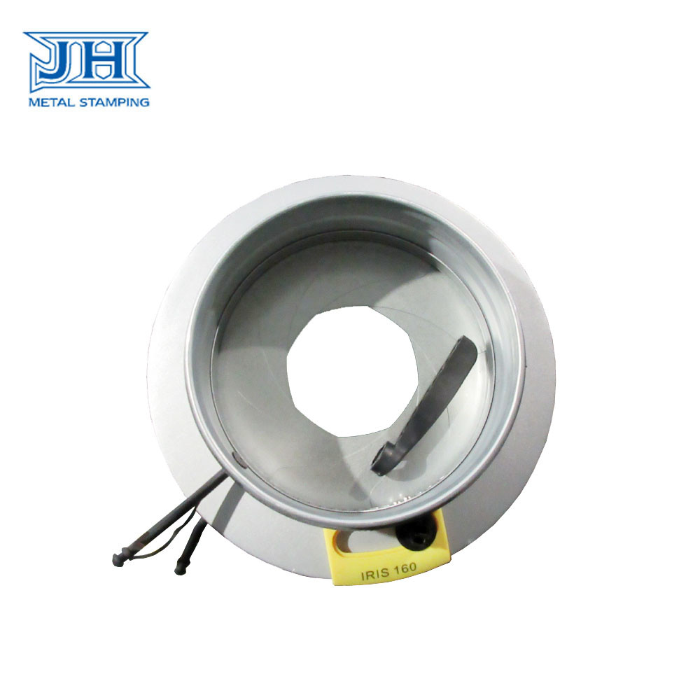 Manual HVAC Iris Type Air Volume Control Damper 80mm To 800mm For Duct
